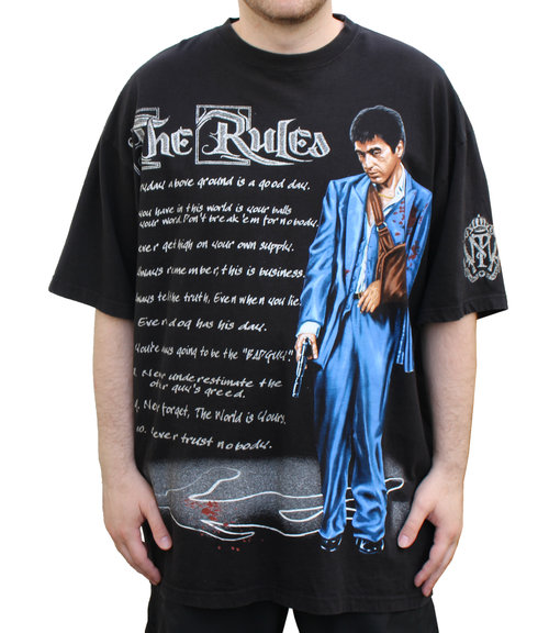 Scarface Clothing Co The Rules T Shirt Size Xxl Roots