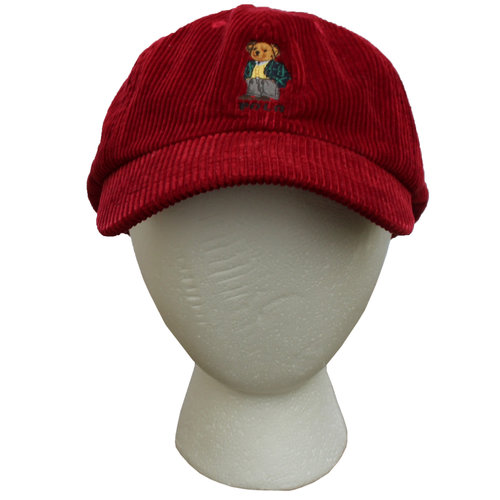 260f4be7a65 Vintage Polo Sport Bear Red Corduroy Strap Back — Roots