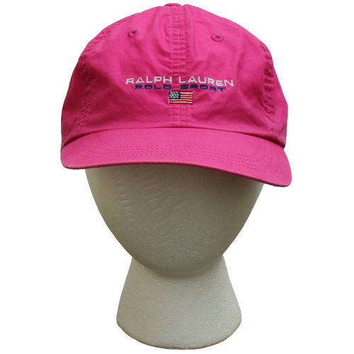 Vintage Polo Sport Ralph Lauren Pink   Blue Strap Back (Women`s OSFA) 5cbb79690fbc