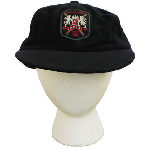Vintage Polo Ralph Lauren Long Bill Wool Black Hat (Size M) — Roots 7a1a91a8f1d9