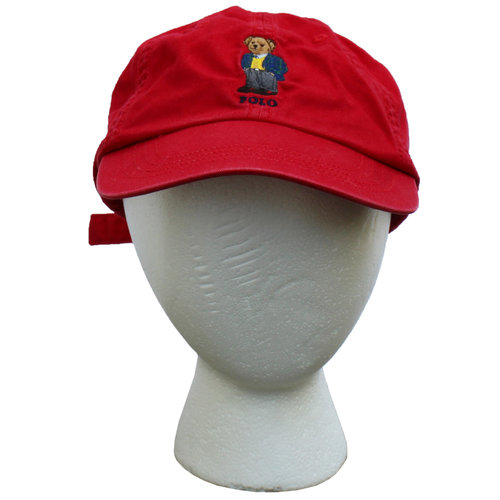 1794e1ec3 Polo Ralph Lauren `13 Bear Red Strap Back Hat — Roots