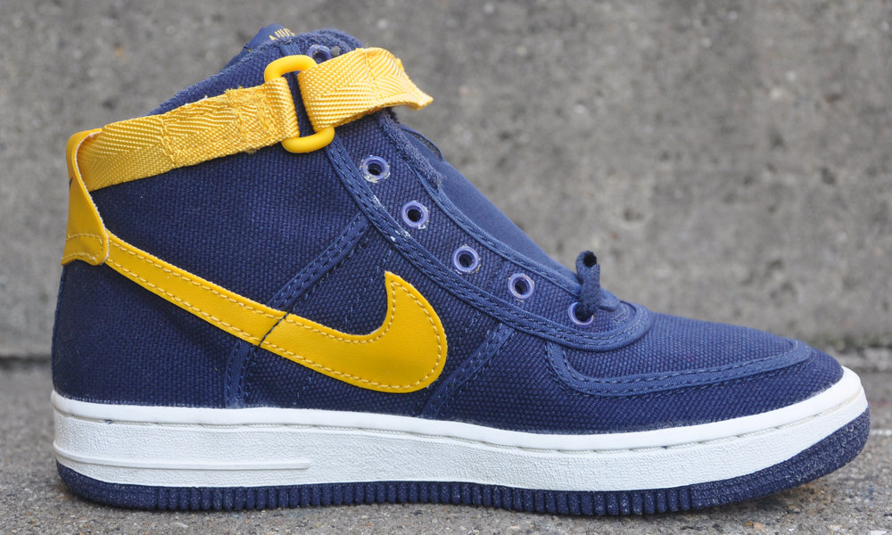 online store 735a9 1e854 ... coupon kids nike air force one canvas midnight navy gold size 3 ds  38df5 7441c