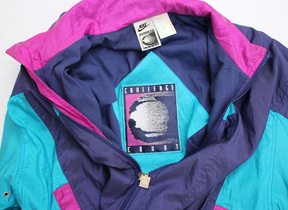 432532fc5e Vintage Nike Challenge Court Windbreaker Aqua   Purple   Pink Windbreaker  (Size M) NWT