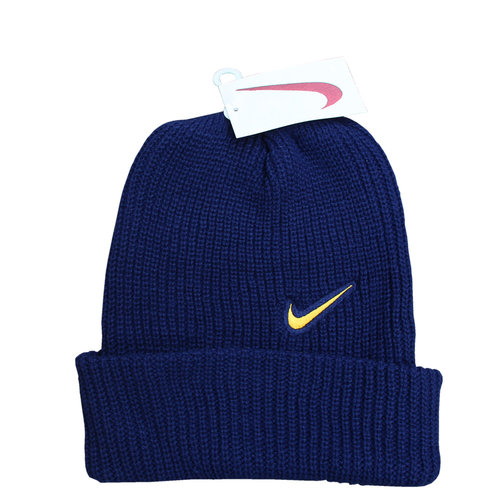 00880f1c1a5 Vintage Nike Navy   Yellow Swoosh Beanie NWT — Roots