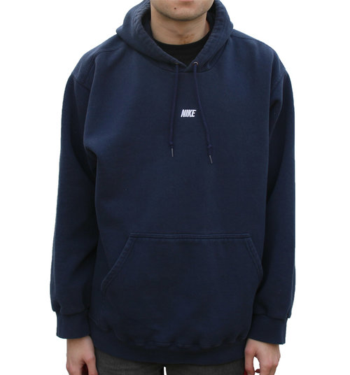 51ad66deb90d Nike Embroidered Logo Navy Hoodie (Size XL) — Roots