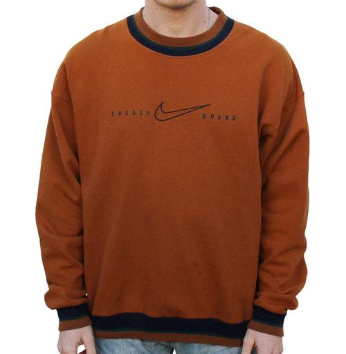 90270243ba69 Vintage Nike Swoosh Brand Burnt Orange Crewneck (Size L) — Roots