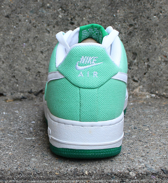 pretty nice 742c1 40ab9 Womens Nike Air Force 1 Low Canvas Tourmaline  Lucky Green (Size 9) DS —  Roots