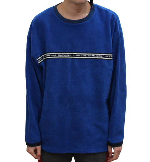 da7e7b6ee3fc3 Vintage Tommy Hilfiger Jeans Blue Fleece (Size L)
