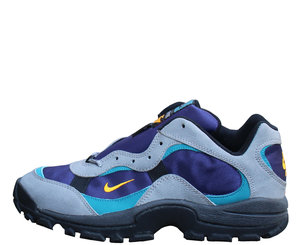 the latest 1d68a 538ee Nike ACG Trail night blue, canyon gold and charcoal.