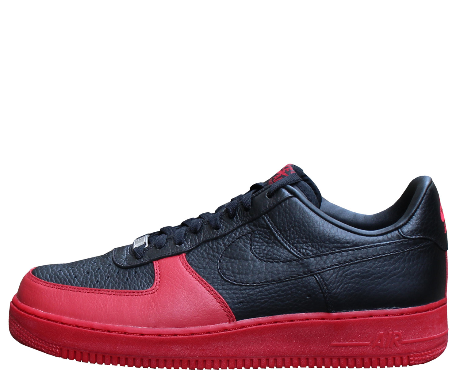 Nike Air Force 1 Low Black Black Varsity Red Size 8 5 Ds Roots