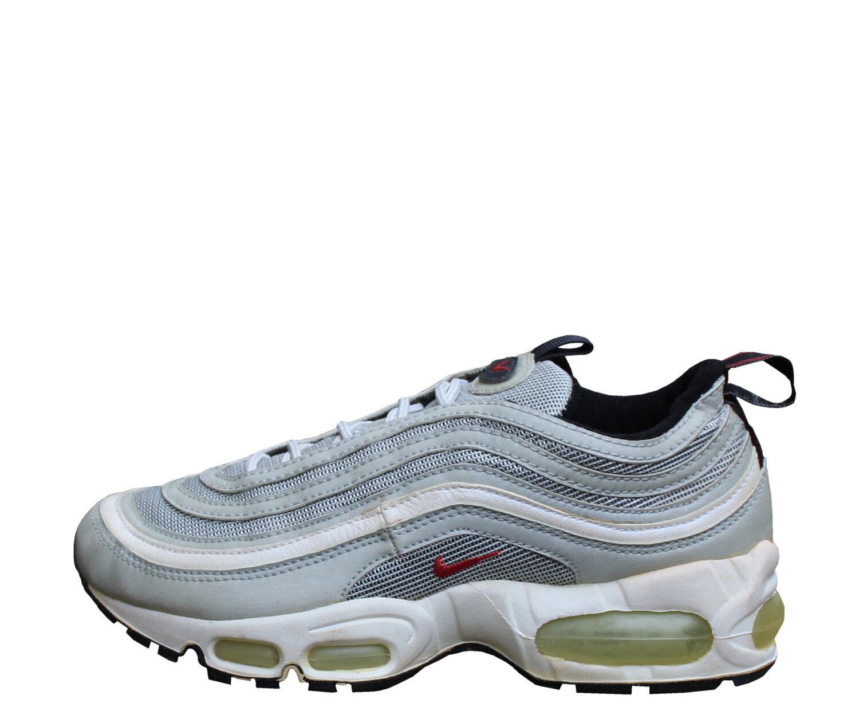 Kids Nike Air Max 97 (BG) Metallic Silver Varsity Red (Size 4.5) DS
