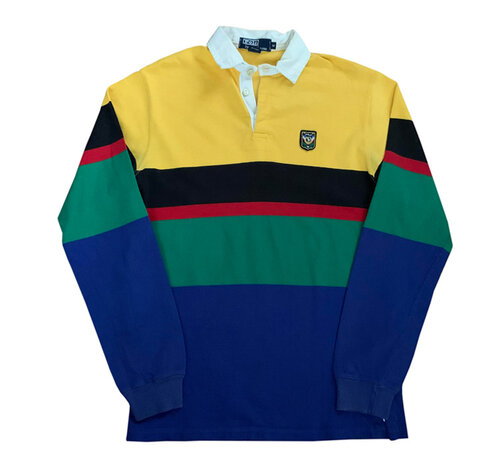 3870be766f843 Vintage Polo Ralph Lauren Colorful Uni Crest Rugby (Size M)
