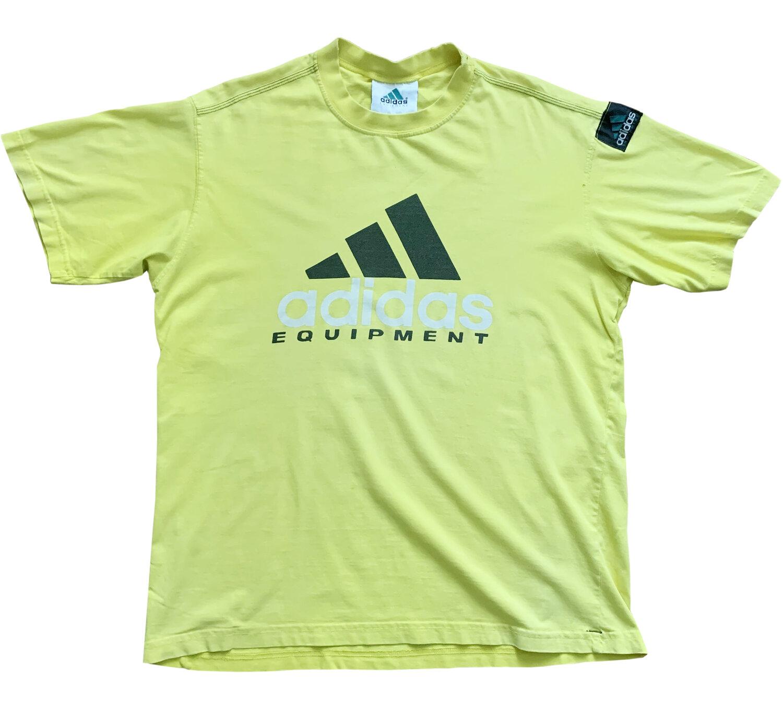 patrocinador lema Amigo  Vintage Adidas Equipment Yellow T Shirt (Size L) — Roots