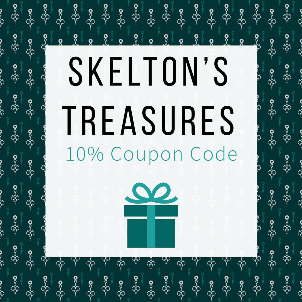 Skelton's Treasures - Coupon Code - Discount Code