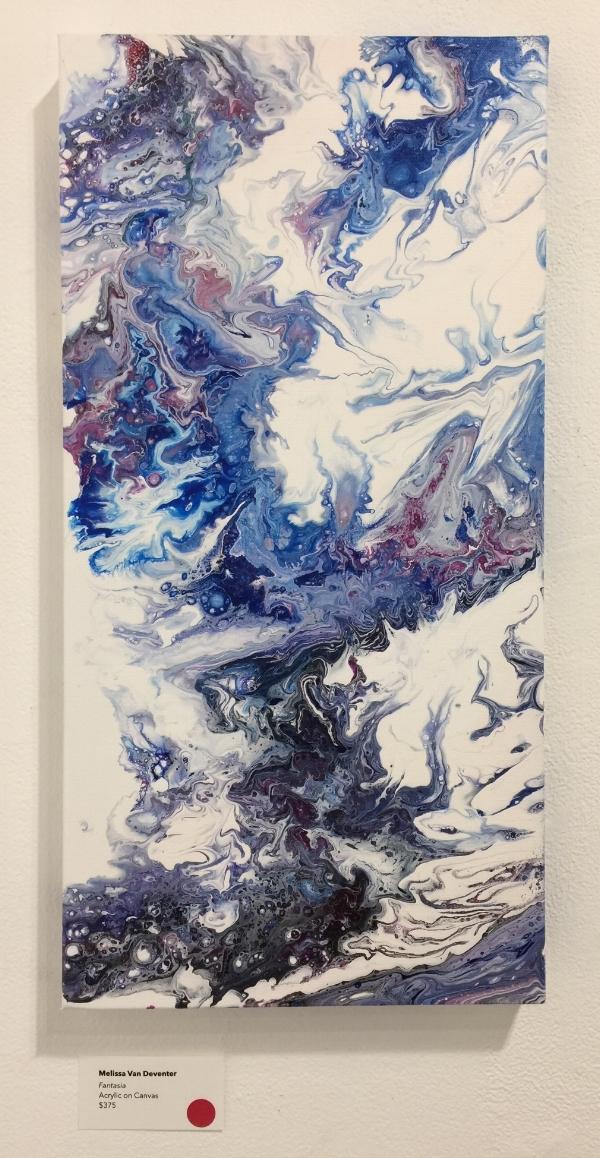 "Fantasia , 2018  Acrylic on Canvas, 12"" x 24""  $375  SOLD"