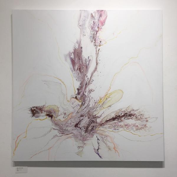 "Flora , 2018  Acrylic on Canvas, 48"" x 48""  $1675"