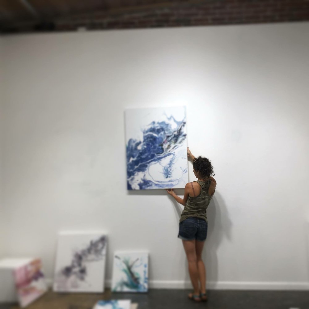 Me just hanging some art for my show