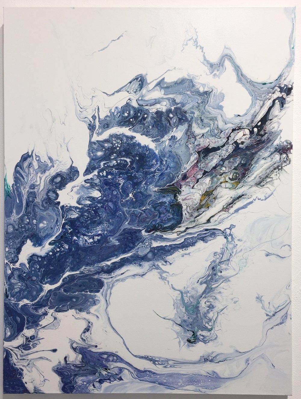 """Oceana , 2018  Acrylic on Canvas, 40"""" x 30""""  $2200  SOLD"""