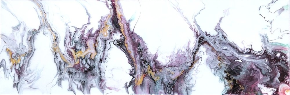 "Sans Purple, 12"" x 36""  SOLD $675"