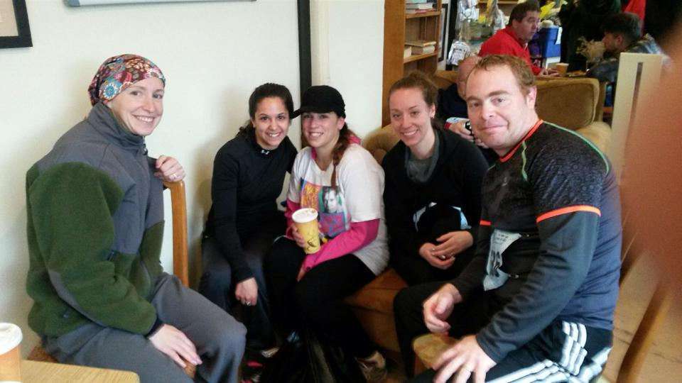 Post Run Coffee at The Frisky Goat