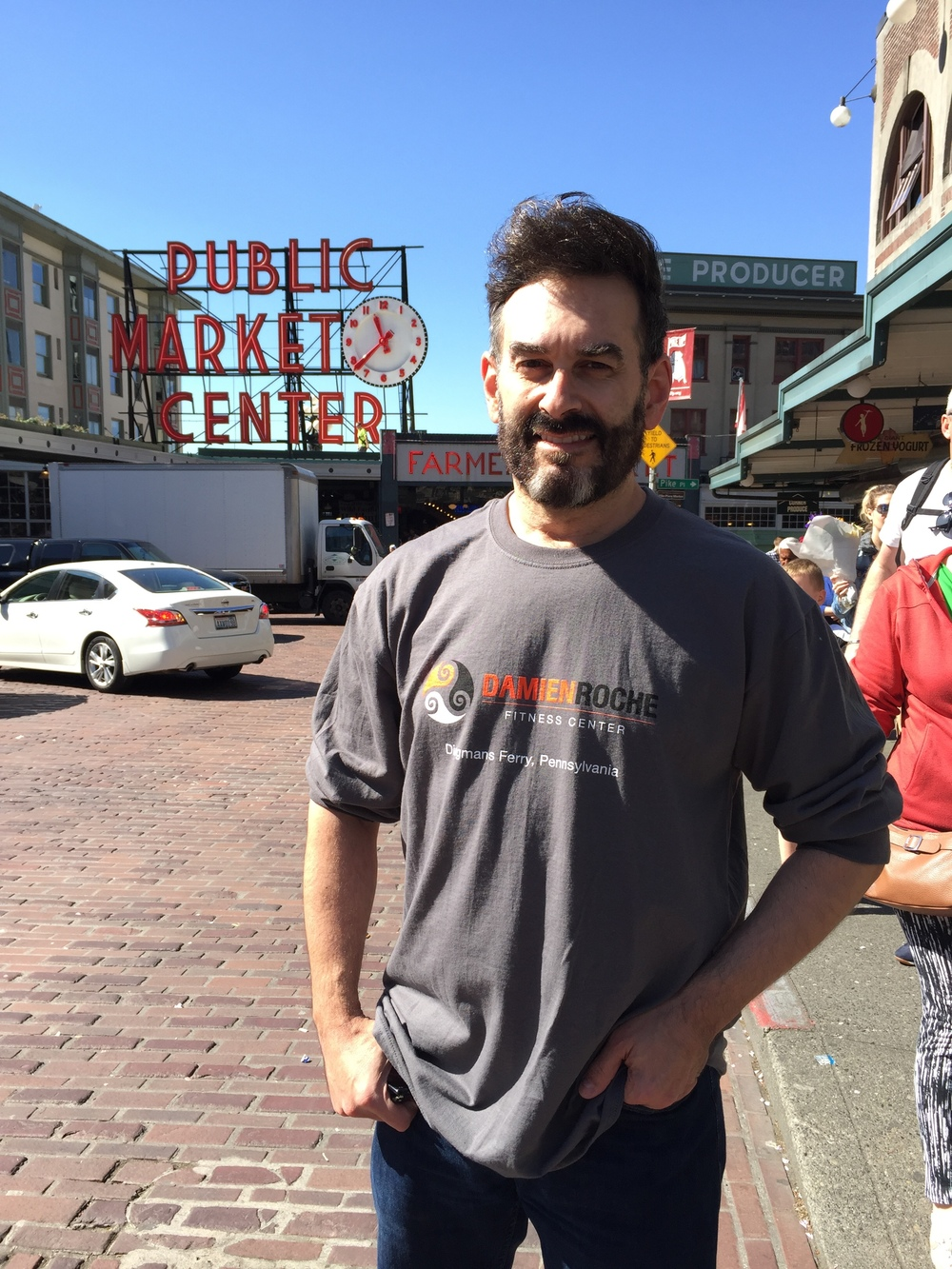 Dan at Pike Market, Seattle, Wa.