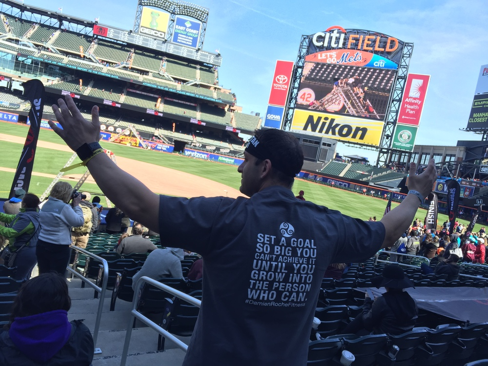 Larry at Citi Field, NY.    Lets Get This Spartan Started...AROO !!!
