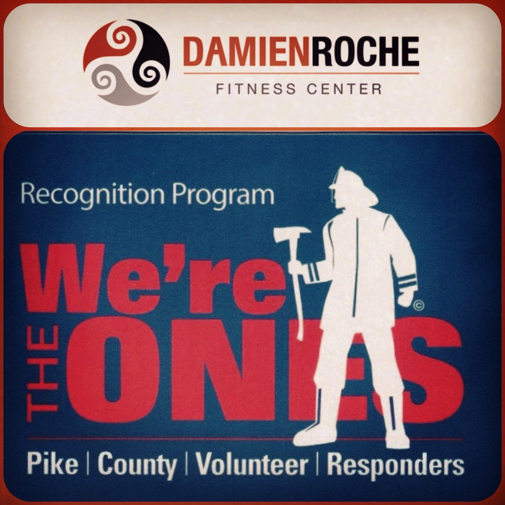 Damien Roche Fitness is proud to be able to support our local volunteer emergency responders. As a 'Thank You' for their time and commitment to keeping out communities safe we are offering 10% off membership, personal training and in-house add-ons to all Pike County Fire Department and Ambulance Corps Volunteers.