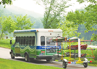 This free shuttle covers the length of The McDade Trail. It will collect you and your kayak or bike and drop you back to your starting point or to another section.