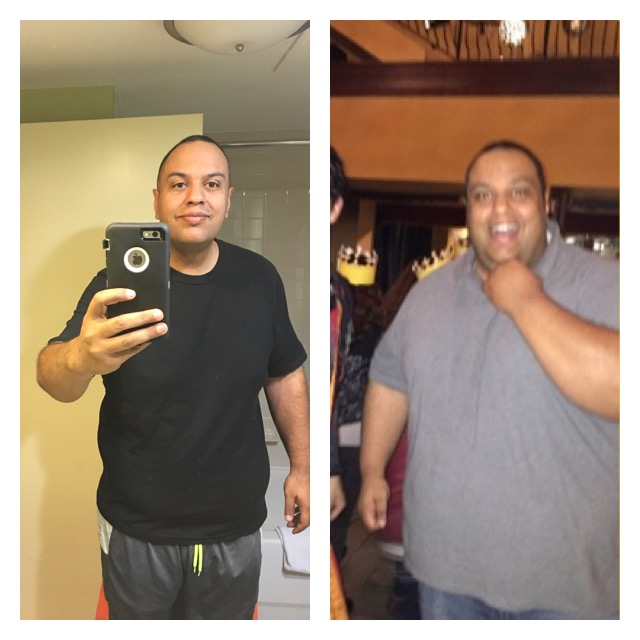 Mike sharing an inspiring before & after photo.