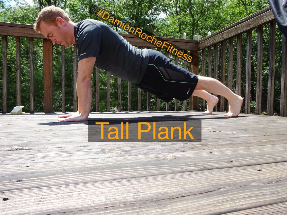 Pending on wrist mobility this is a slightly easier version of the plank.