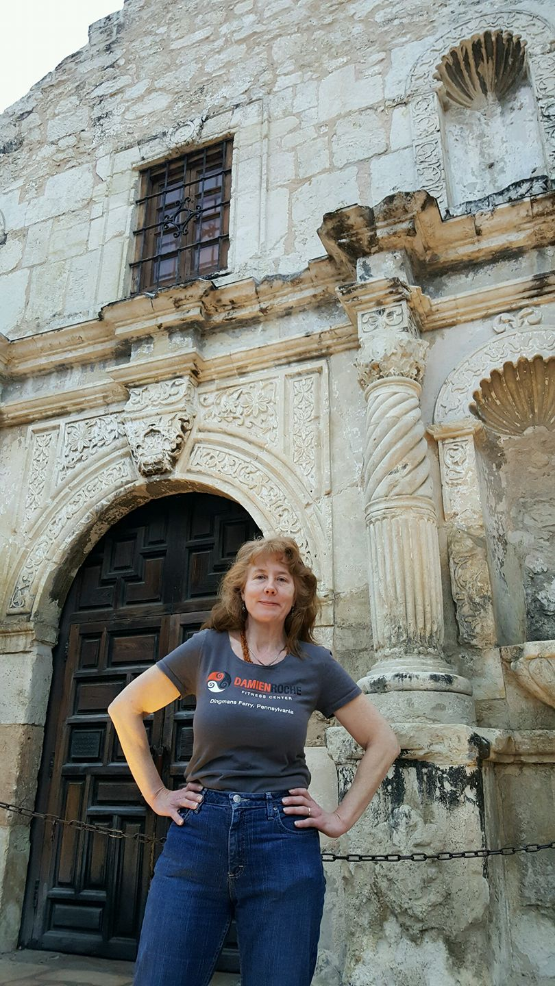 Leonora at the Alamo, Texas.