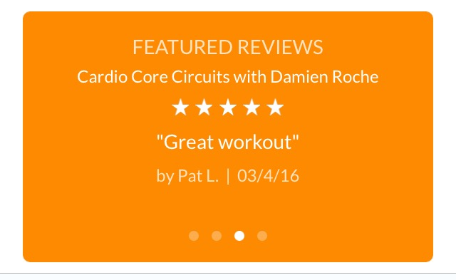 Review posted using Mindbody App