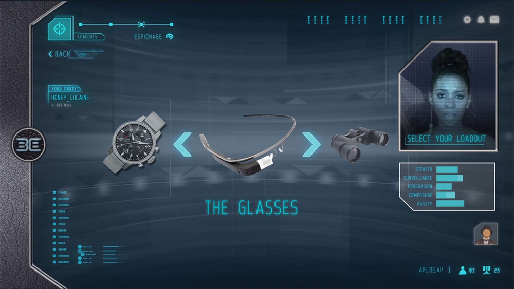 "Various screenshots featuring UI elements designed throughout the ""Be video game""."