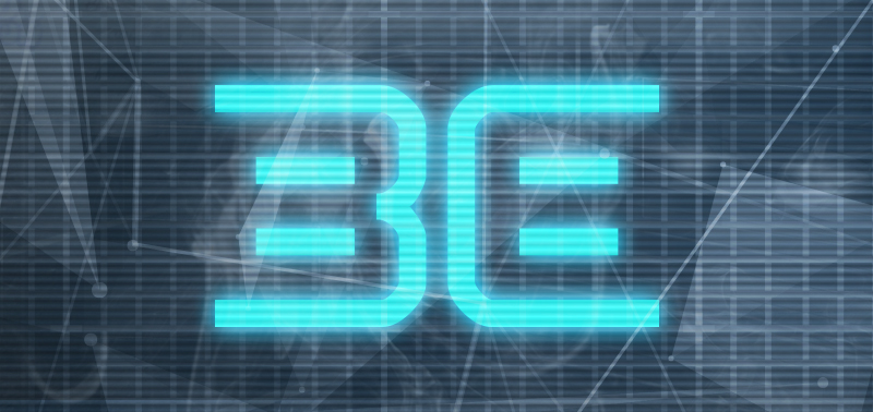 "The ""Be"" logo, digital style."