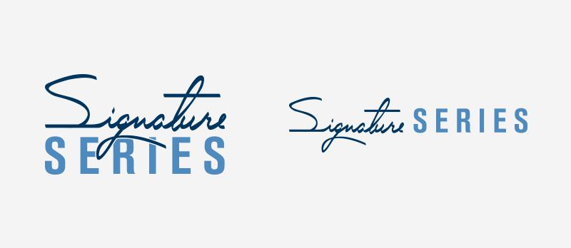 Signature Series logo, on white.