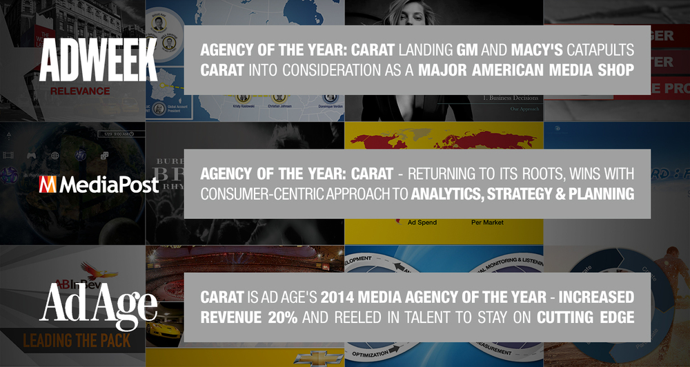 Source for each media hit: AdWeek, MediaPost, Ad Age.