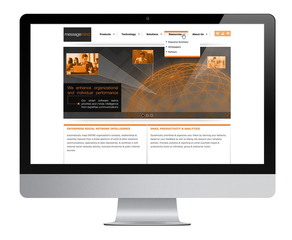 Message Mind desktop website.