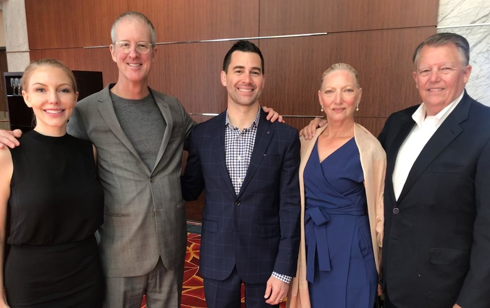 From Left: Heather Huffman (NAI), Jeff Speck (Speck & Associates), Christopher Huffman (Lafayette Land), Doris Isakson, Bob Isakson (Lafayette Land). Photo taken September 14, 2018.
