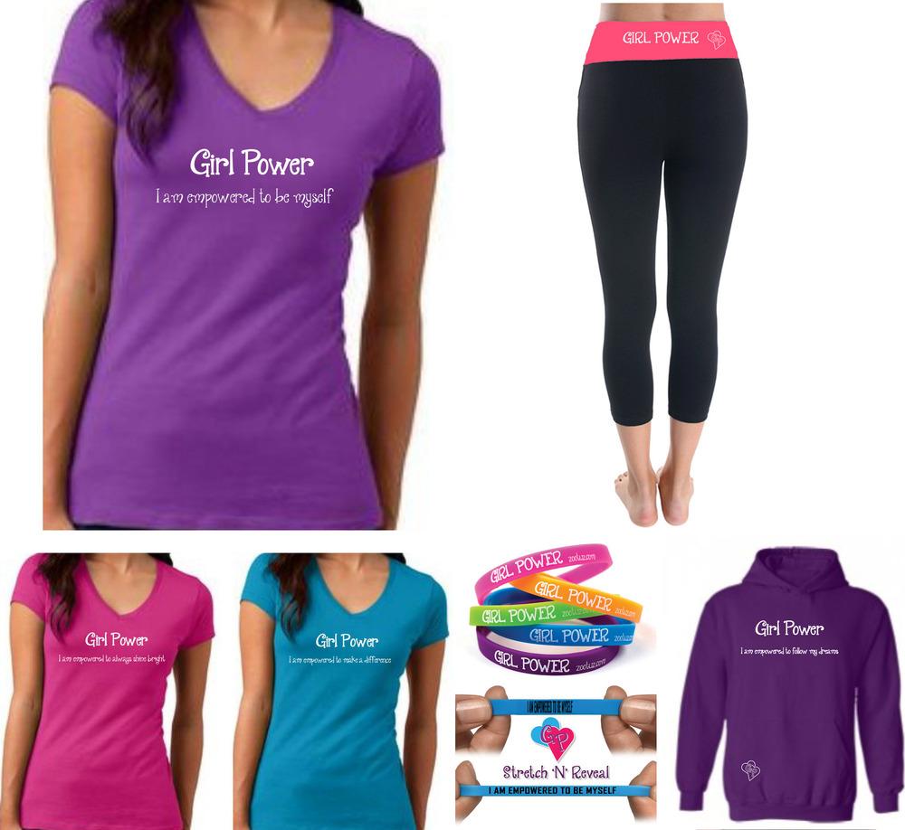 girl power shirts, hoodies and yoga pants