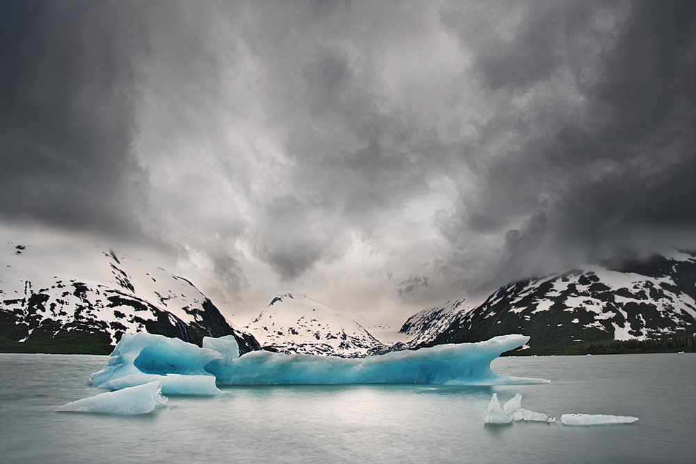 Storms over Portage Glacier