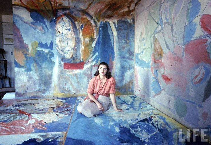 Helen Frankenthaler photographed for LIFE magazine.