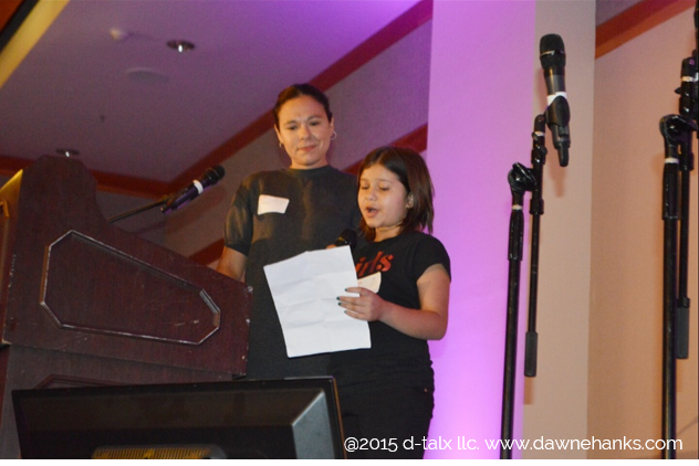 Sama, a 10 year old business older and future actress who saves animals gave an impassioned speech and rocked the house