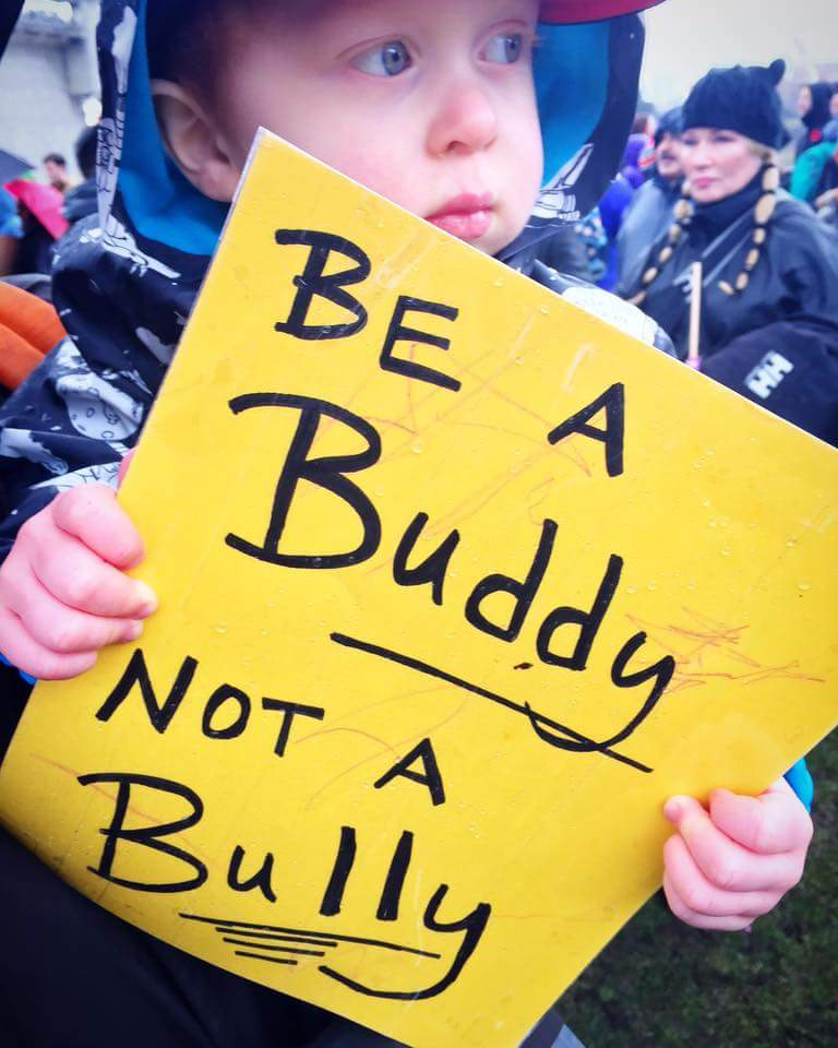 One of my favorite things about the Women's March on Portland were the Kids. So many parents exposing their kids to standing up for what they believe in. It was beautiful and none more so than this kid and his sign shared on the Women's March on Portland Facebook Page by Alex Stamsos