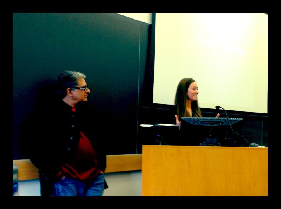 Danielle & Deepak teaching at Columbia University
