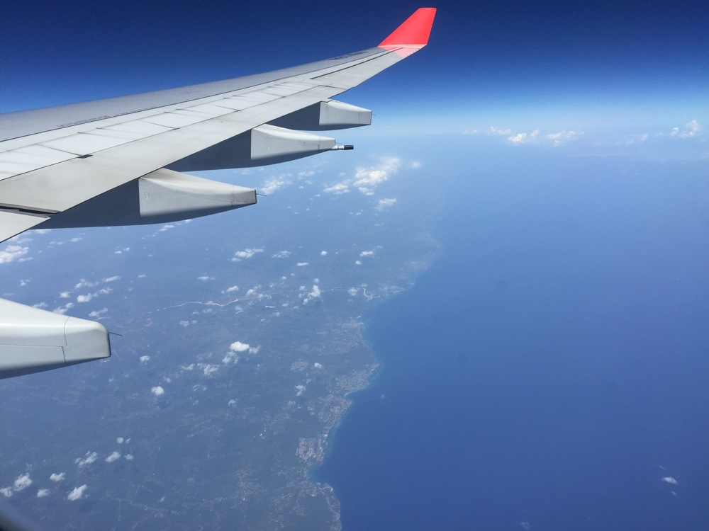After having passed cuba we pass over Jamaica :)