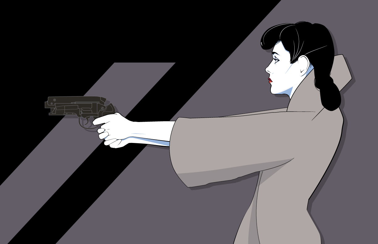 "craigdrake: ""Rachel""  - Gouache on art board. 30"" x 40"" for Mondo's gallery opening 3.10.12 We love this Nagel inspired work of Rachel from Blade Runner."