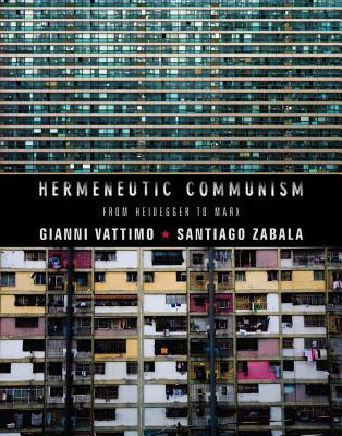 "Hermenuetic Communism: From Heidegger to Marx by Gianni Vattimo and Santiago Zabala     A groundbreaking book on political theory and rhetoric, Vattimo and Zabala take the reader on a historical, political, theoretical and even metaphysical journey through both the history and future of Communism. Arguing that ""weak thought"" will bring down the modern form of ""Armed Capitalism"" and usher in the advent of Communism, the authors also posit that Hermeneutic (the theory of text interpretation) Communism is stripped of all of its previous metaphysical constraints and can now have a greater appeal.    This is some powerful (not so) light reading for those interested in the continuously changing political, social and cultural worldwide paradigm.    More information  here."