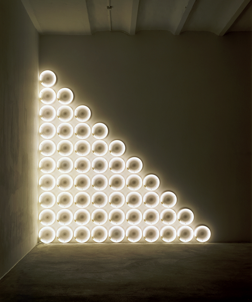 untitled (to a man, George McGovern) 2,  1972 Warm white fluorescent light © 2015 Stephen Flavin/Artists Rights Society (ARS), New York
