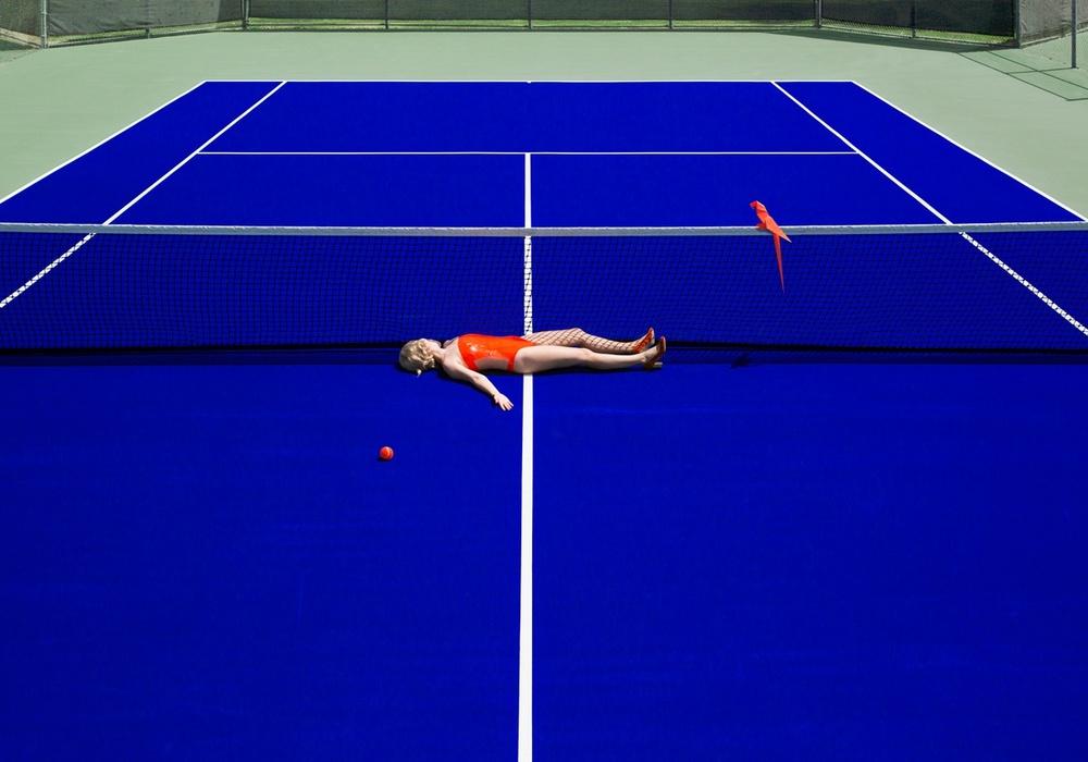 "Reinie Paradis - ""Tennis"" (2016, archival pigment print) courtesy of Kopeikin Gallery"