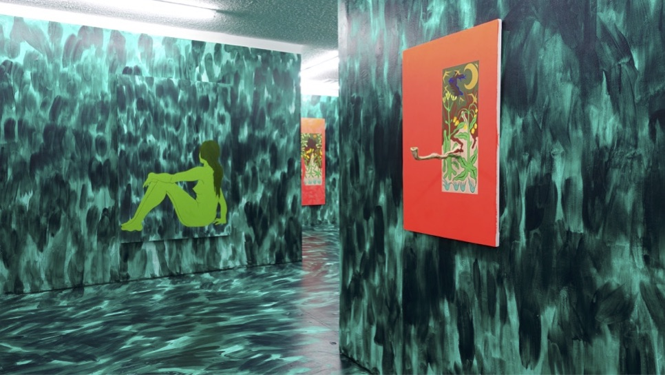 """Installation view. Chris Lux - """"Absinthe"""" (2016) Courtesy of Sade Gallery"""